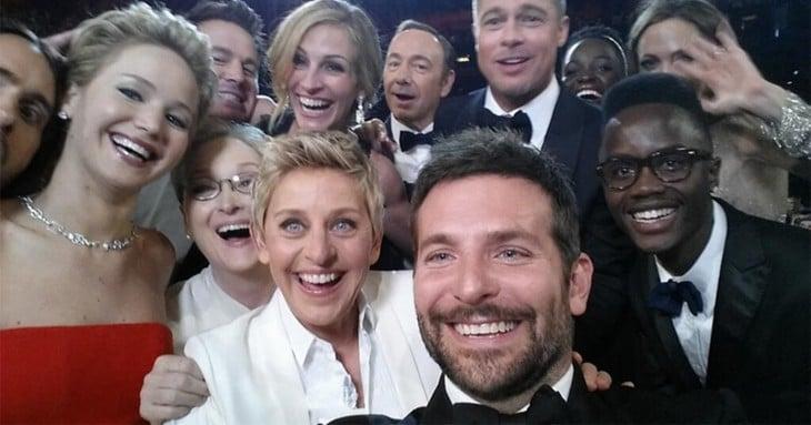 selfie grupal de la DeGeneres