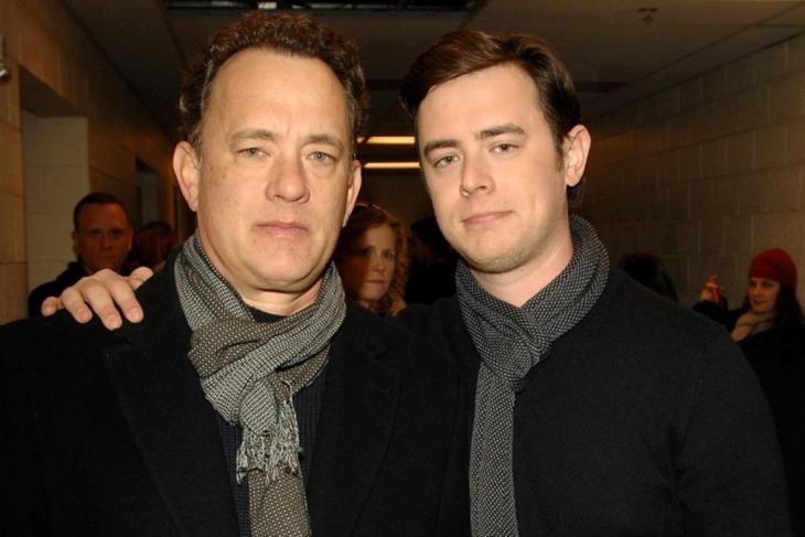 Tom Hanks y Colin 2015