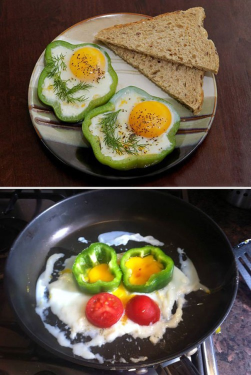 huevos rancheros con pan