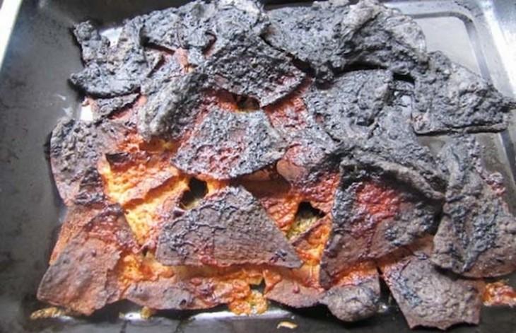 nachos quemados