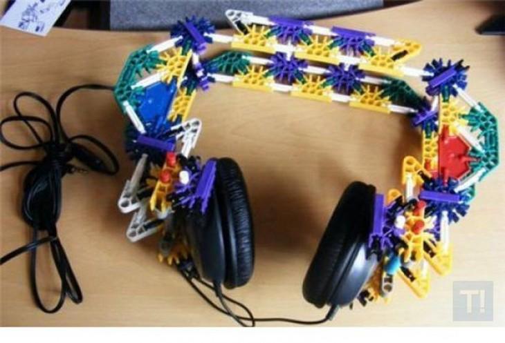 audifonos arreglado con legos