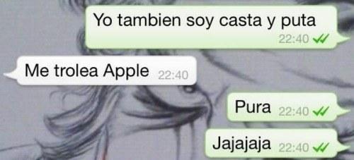 autocorrector apple pura y puta