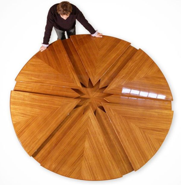 mesa desplegable circular