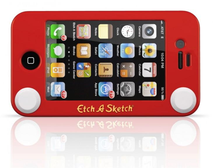 funda para celular con forma de pantalla de juguete de los noventa