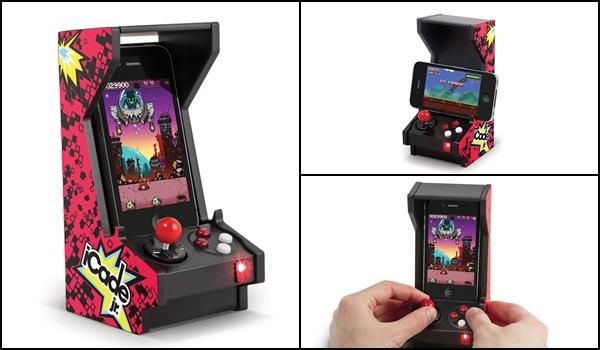 funda para celular en forma de maquinita de video juegos