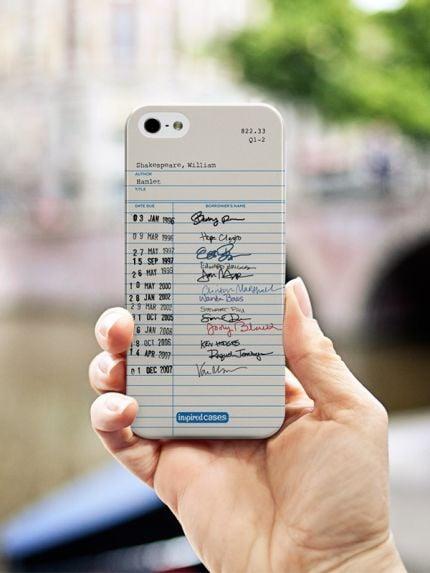 funda para celular de una libreta de notas escrita a mano