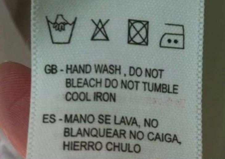 instrucciones de lavado mal traducidas