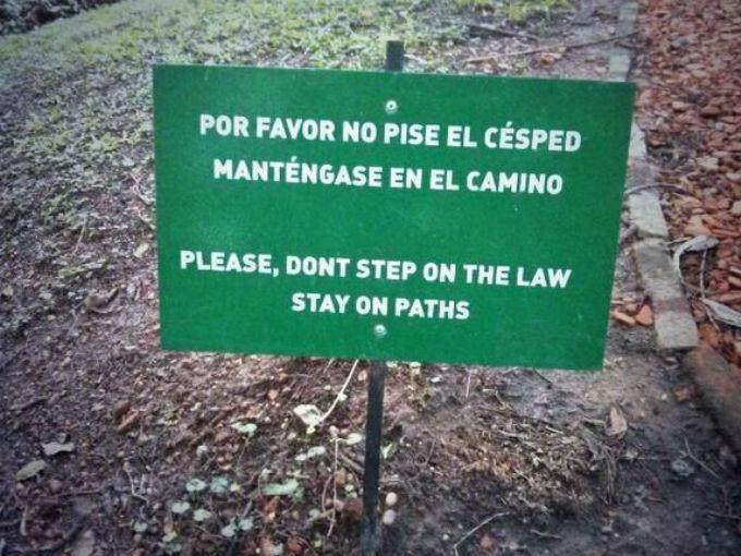 por favor no pise el cesped
