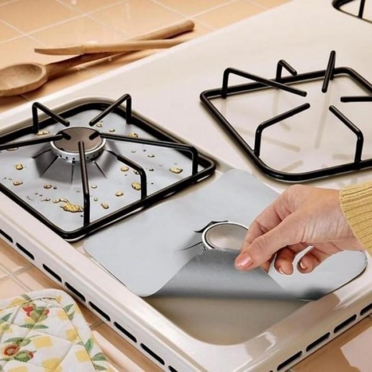 cubre hornillas de la estufa