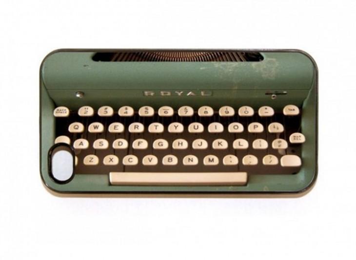 funda de maquina de escribir estilo retro