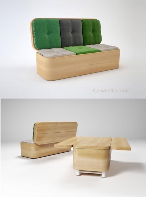 sofa convertible en un mueble practico