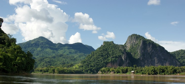 Float down the Mekong river in Laos.