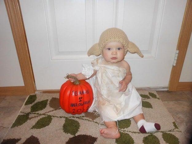 bebé disfrazado de dobby