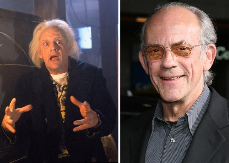 Foto del antes y después de Christopher Lloyd de la épica película volver al futuro