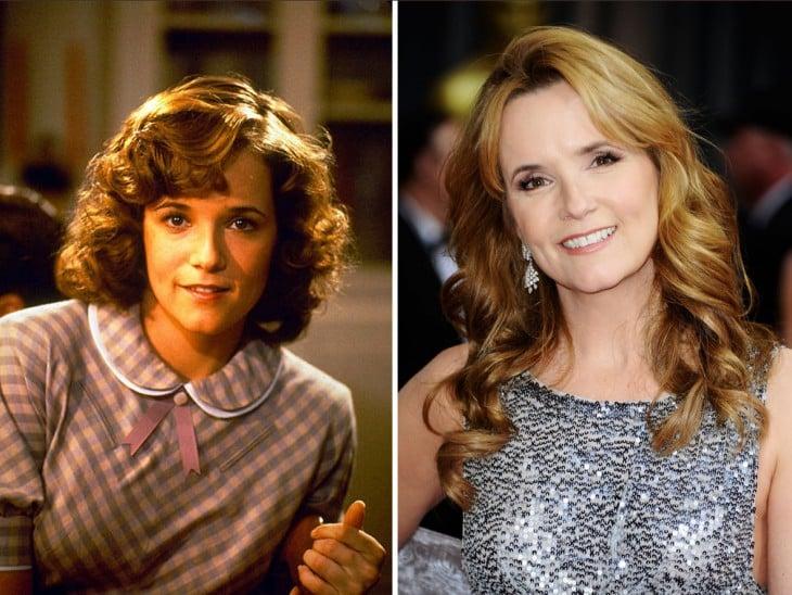 foto del antes y después de Lea Thompson personaje de la película volver al futuro