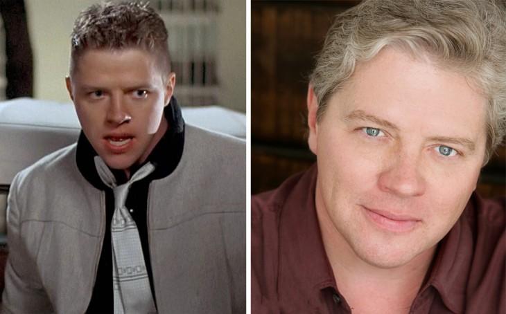 Thomas F. Wilson antes y después de su personaje en la película 'volver al futuro'