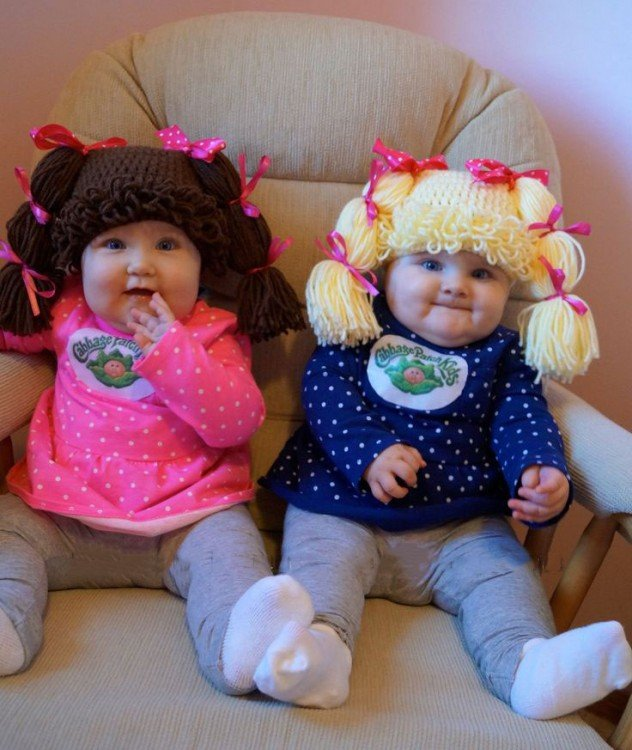 hermanitas gemelas disfrazadas de cabbage patch