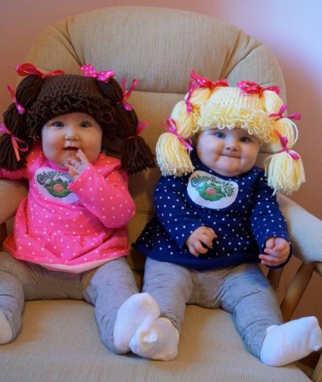 hermanitas gemelas disfrazadas de cabbage patch