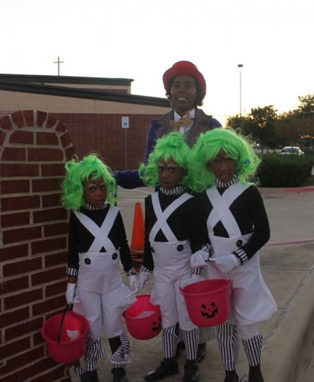 Willy Wonka y sus oompa loompa
