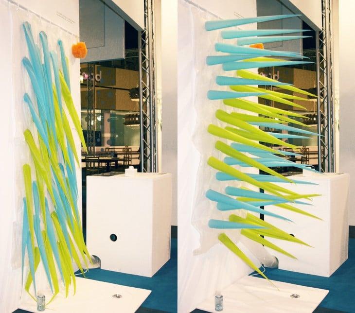 imagen que muestra una cortina con picos inflables
