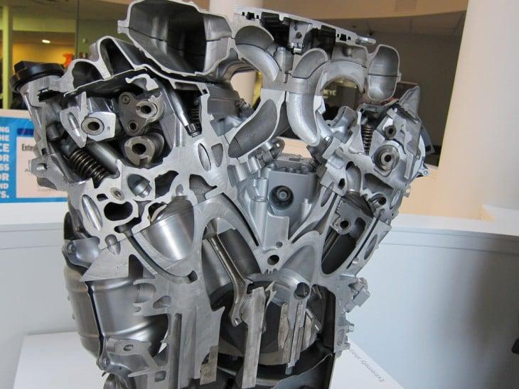 interior de un motor