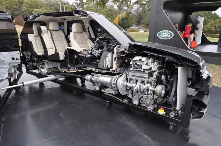 Interior Range Rover 2014 cortado justo por la mitad