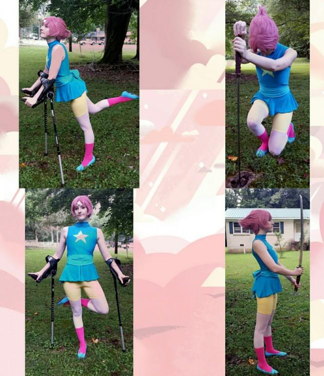 chica disfrazada de Pearl de Steven Universo