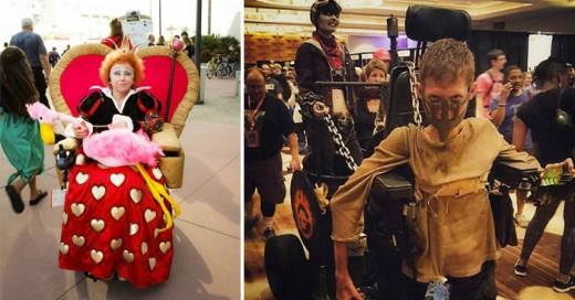 Las personas que padecen de una incapacidad temporal o de por vida no tienen un impedimento para disfrazarse este próximo Halloween y aquí una muestra de su creatividad
