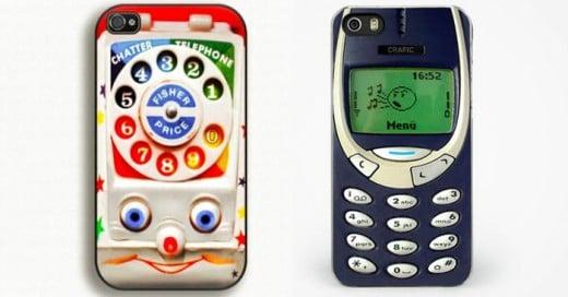 La nostalgia hace presa a los diseñadores de fundas para celular