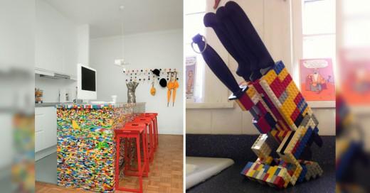 Los legos ahora como una nueva forma de decorar y construir cosas útiles