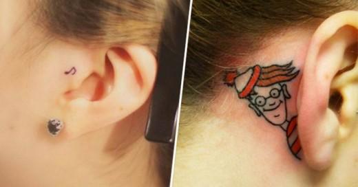30 Muestras de tatuajes para tu oreja