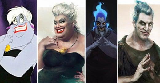 Así lucirían algunos villanos de Disney en la vida real
