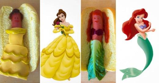 LuckyPeach Reinventa a las princesas de Disney en unos Hotdogs