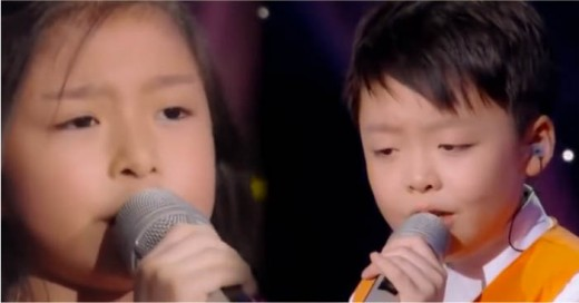 Dos niños que sorprenden con sus voces increible