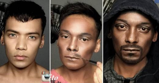 Este Genio del maquillaje llega al extremo y se convierte en Snoop Dog