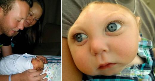 Jaxon el bebe con una fortaleza por vivir