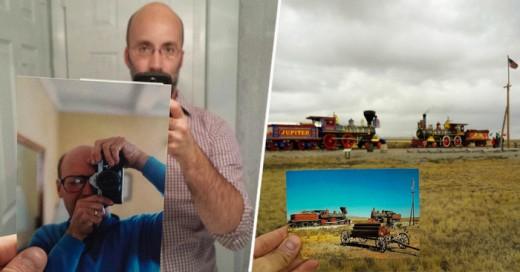 Nieto Viajó a los lugares que su abuelo visito y recreo las fotos tomadas por el