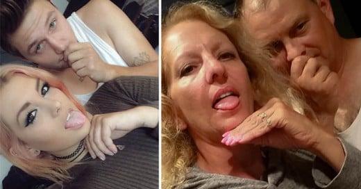 Increíbles fotografías de unos padres que trolean a su hija reproduciendo las imágenes de su hija