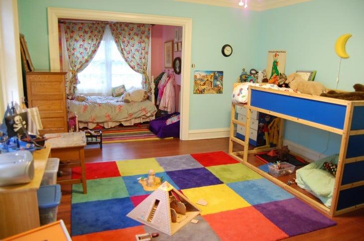 decoración creativa en diferentes colores para una niña y un niño