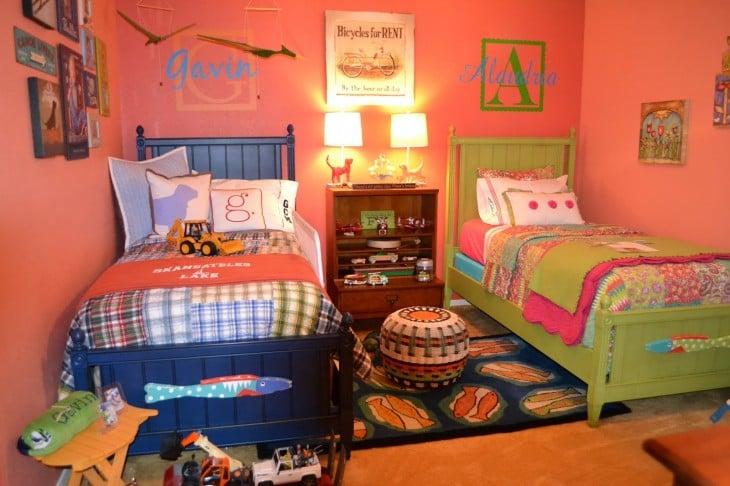 decoración de una habitación especial para una niña y un niño