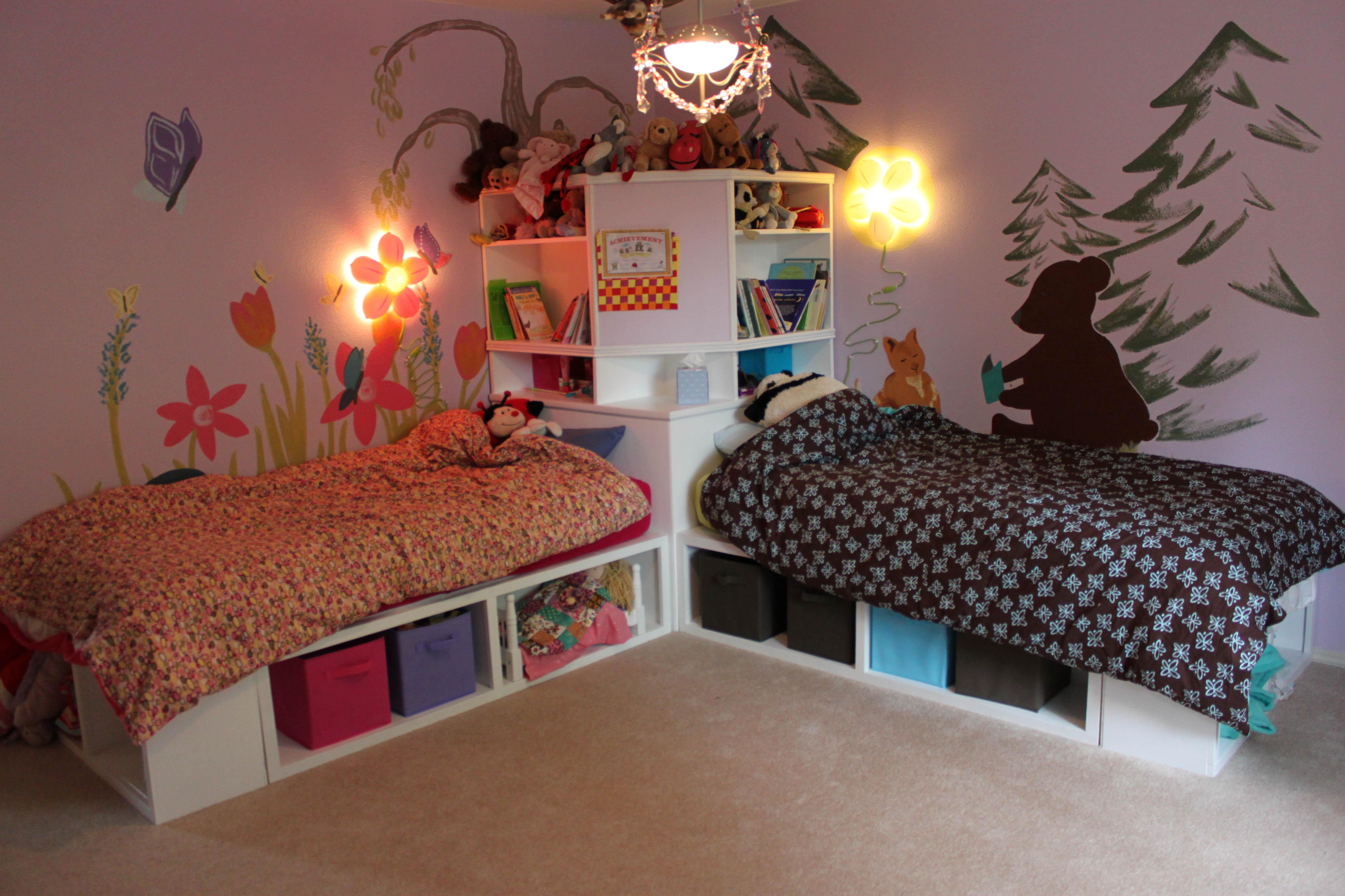 25 ideas para habitaciones compartidas por ni os y ni as - Habitaciones de nina decoracion ...