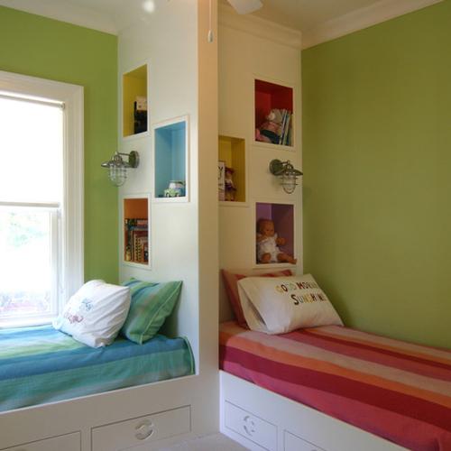decoración de una habitación para una niña y para un niño