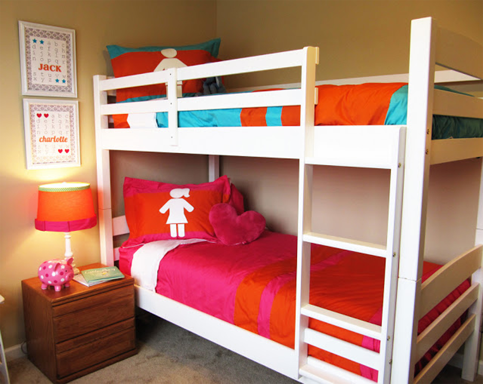 25 ideas para habitaciones compartidas por ni os y ni as for Habitaciones para ninas con literas