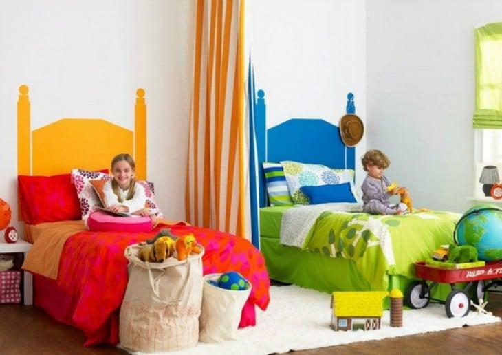 Habitación de colores para niño y para niña
