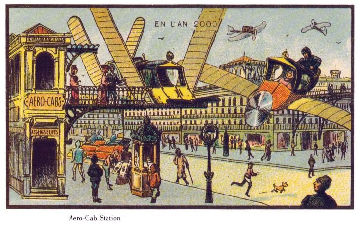 ilustración que muestra el futuro de Francia en el 2000