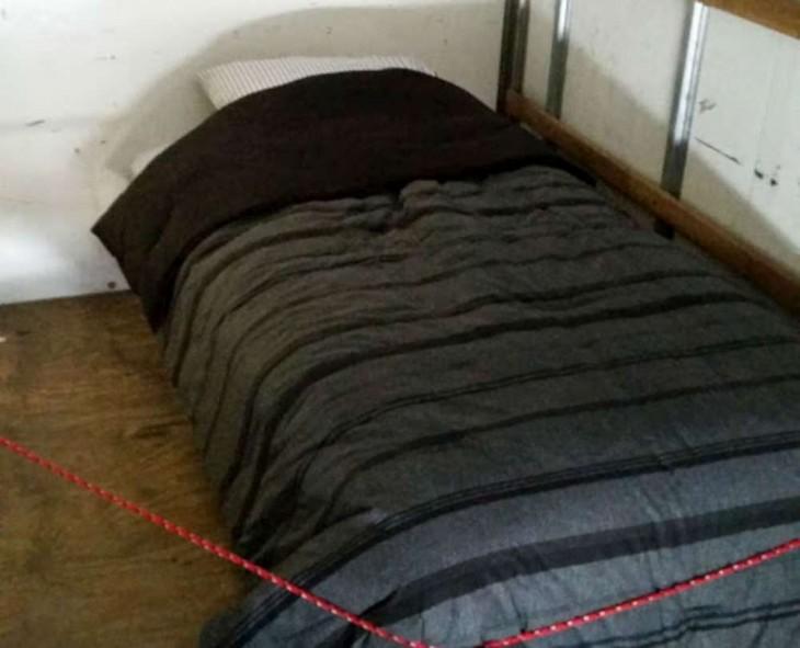 cama dentro de un camión
