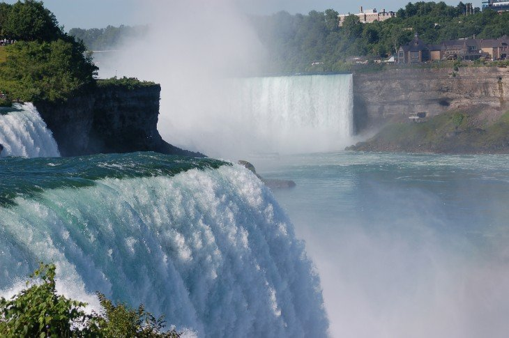 Cataratas del Niágara entre Canadá y Estados Unidos