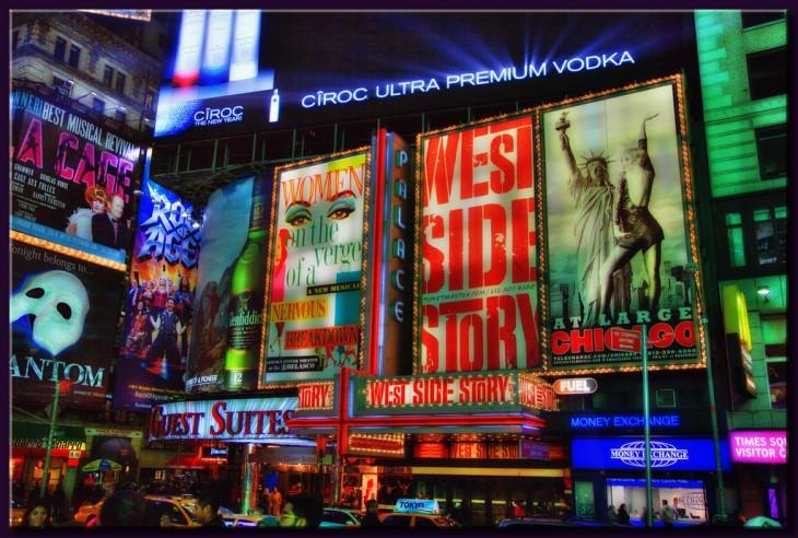 promocionales de musicales en Broadway, Nueva York