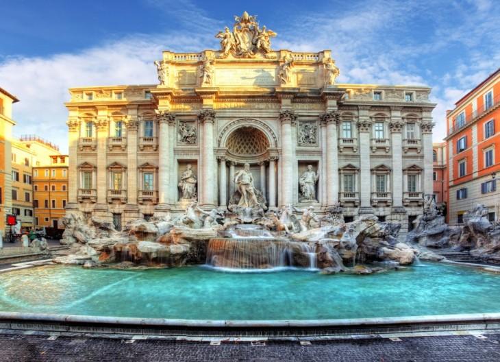 Fontana de Trevi en Italia
