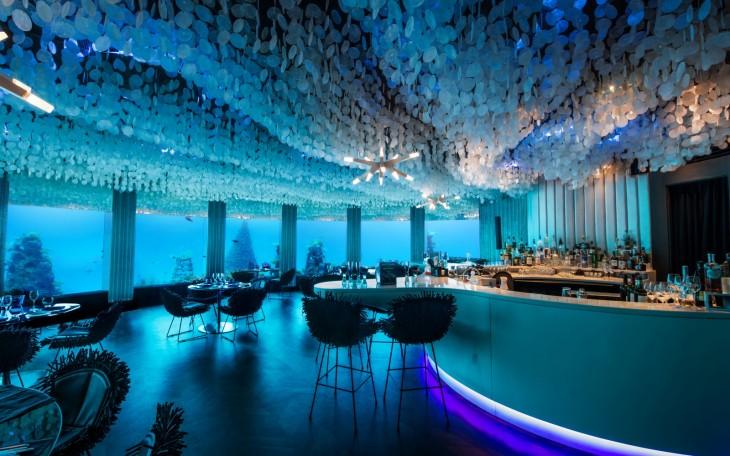 Restaurante Ithaa Undersea en Maldivas